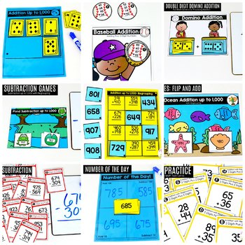 2nd Grade Math: Addition and Subtraction 2-Digit and 3-Digit Numbers