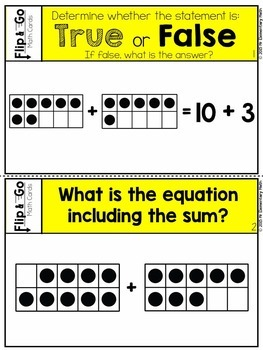 Addition and Subtraction within 20 - 2nd Grade Math Flip and Go Cards