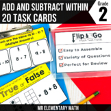 Addition and Subtraction within 20 Task Cards 2nd Grade Math Centers