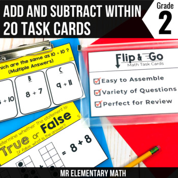 Addition and Subtraction within 20 - 2nd Grade Math Flip a