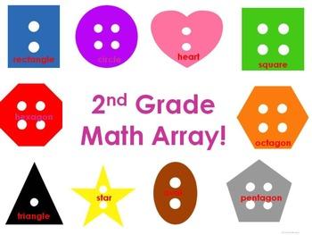 Math Arrays: Buttons (Second Grade)