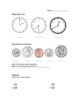 2nd Grade Math Assessment