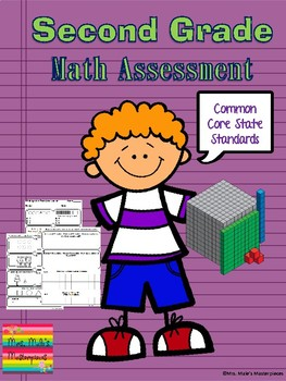2nd Grade Math Assessment Common Core State Standards