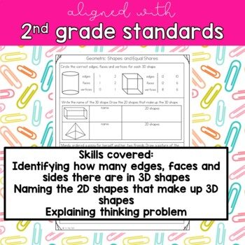 2nd Grade Math Assessment: Geometric Shapes and Equal Shares