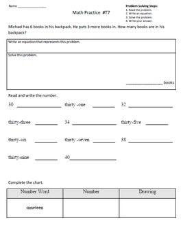 2nd Grade Math Assessment Homework Practice Worksheets: Co