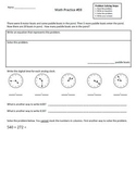 2nd Grade Math Assessment  Homework Practice Worksheets: Common Core - [Pack5]