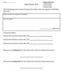 2nd Grade Math Assessment Homework Practice Worksheets:Common Core -Transition 2