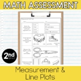 2nd Grade Math Assessment: Measurement and Line Plots (estimates & comparing)