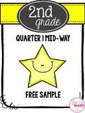 2nd Grade Math Assessment: Mid-Way 1st Quarter