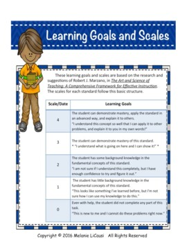 2nd Grade Math Assessment with Proficiency Scales - Distance Learning