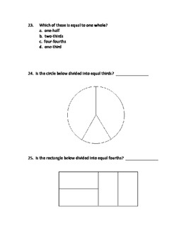 2nd Grade Math Assessment - Reasoning with Shapes - Common Core Aligned