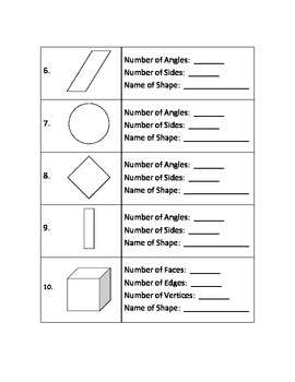 2nd Grade Math Assessment - Reasoning with Shapes - Common