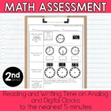 2nd Grade Math Assessment: Telling Time to the Nearest 5 Minutes