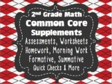"""2nd Grade Math Assessments 100% Common Core Aligned Google Slides™ """"Type-able"""""""