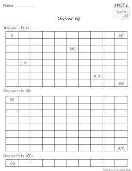 2nd Grade Math Assessments For Each & Every Common Core Math Standard