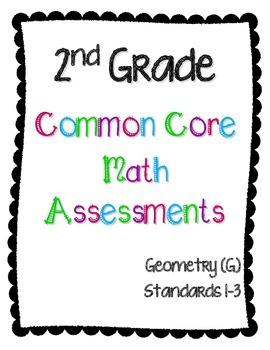 2nd Grade Math Assessments - Geometry (2.G.1, 2.G.2, 2.G.3)