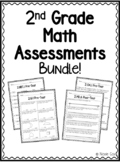 2nd Grade Math Assessments - Pre and Post Tests
