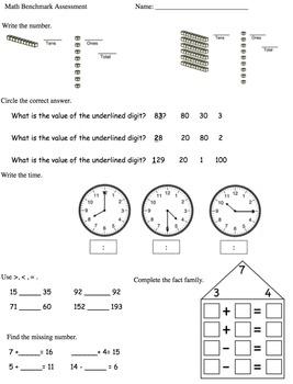 2nd Grade Math Benchmark Assessment