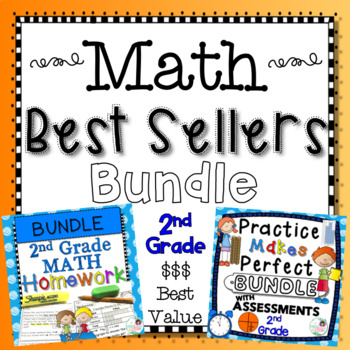 2nd Grade Math Best Sellers Bundle - Practice, Assessments, and Homework