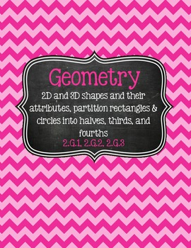 2nd Grade Math Binder Covers (with Common Core) - Chevron & Chalkboard!