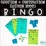 Math Bingo for 2nd Grade - Addition and Subtraction (within 1000)