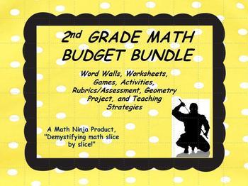 2nd Grade Math Budget Bundle