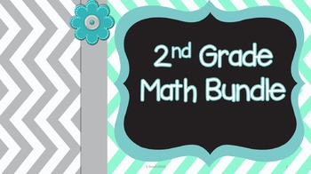 2nd Grade Math Bundle: Entire Year of Trifolds and Suplements