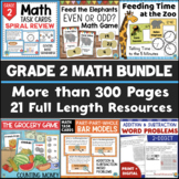 2nd Grade Math Bundle - Games, Centers, Activities for the Whole Year
