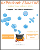Grade 2 Math Bundle CCS - Geometry, Algebra, M & D, Base 10 - Students w/ Autism