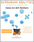 2nd Grade Math Bundle- Geometry, Algebra, M& D, Base 10 w/ M H or Med Conditions