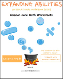 2nd Grade Math Bundle- Geometry,Algebra, M & D, Base 10 w/ Physical Disabilities