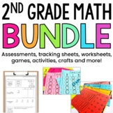 2nd Grade Math Bundle: Guided Math Tracking Sheets, Centers, Assessments & More
