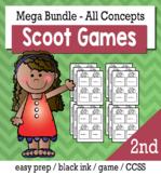 2nd Grade Math Bundle - Scoot Game/Task Cards