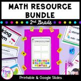2nd Grade Math Bundle - with Printable PDF & Google Slides
