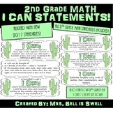 """2nd Grade Math """"I Can"""" Statements (Cactus Theme)"""