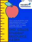 2nd Grade Math CCSS Aligned Resource Pages