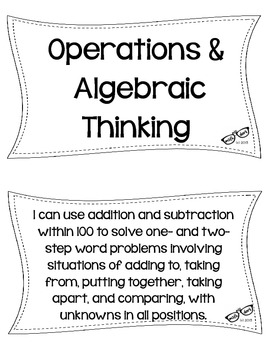 "2nd Grade Math CCSS ""I Can"" Statements"