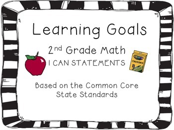 "2nd Grade Math CCSS ""I can..."" Cards"