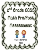 2nd Grade Math CCSS Pre/Post Assessment