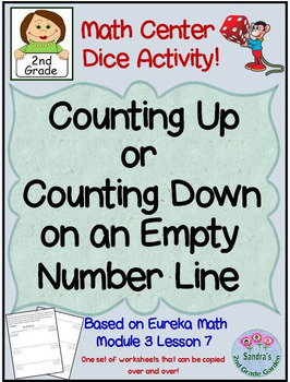 2nd Grade Math Center/ Counting Up or Down on an Empty Number Line/ Eureka Math