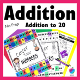 2nd Grade Math Center Game - Fluency to 20 - No Prep!