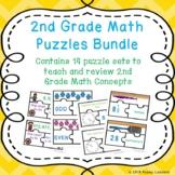 2nd Grade Math Stations 2nd Grade Math Games 2nd Grade Math Puzzles Bundle