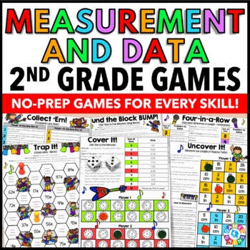 2nd Grade Math Centers: 2nd Grade Measurement and Data Games {2.MD.1 - 2.MD.10}