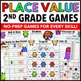 2nd Grade Place Value Games for 2.NBT.1, 2.NBT.2, 2.NBT.3