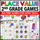 2nd Grade Math Centers: 2nd Grade Place Value Games {2.NBT.1, 2.NBT.2, 2.NBT.3.