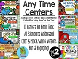 "2nd Grade Math Centers: ""Any Time"" Series {BUNDLED}"