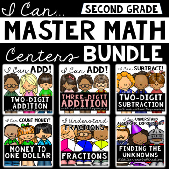 2nd Grade Math Centers (Bundle)