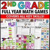 2nd Grade Math Centers: 2nd Grade Math Games No Prep Bundle