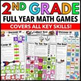 2nd Grade Math Centers: 2nd Grade Math Games No Prep Bundle