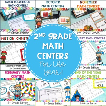 2nd Grade Math Centers For the Whole Year!